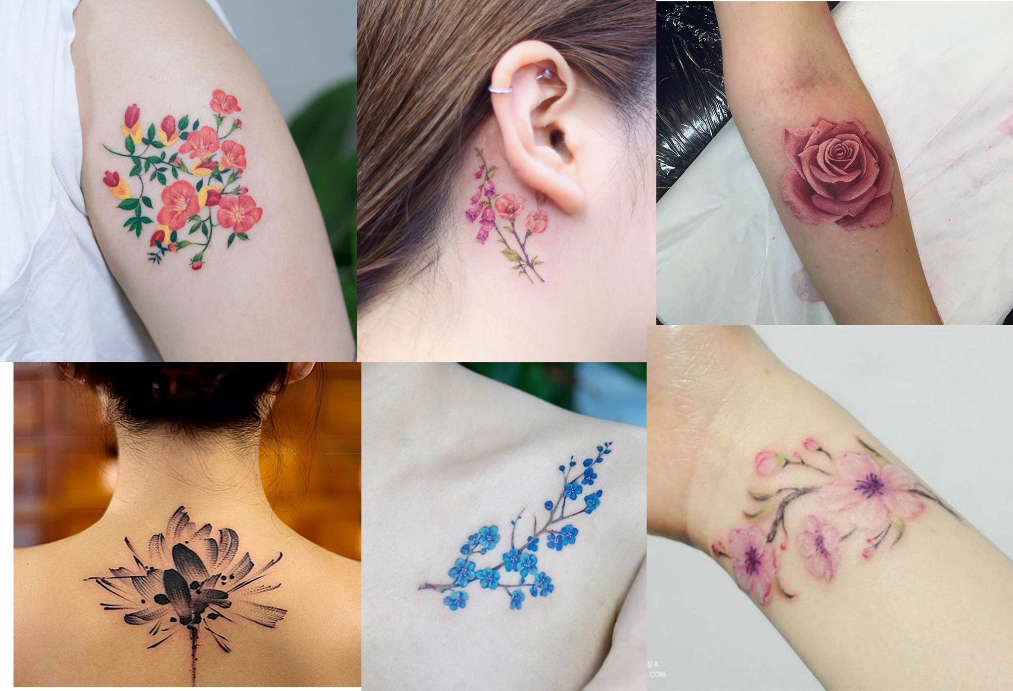 Latesat Floral Tattoo Designs