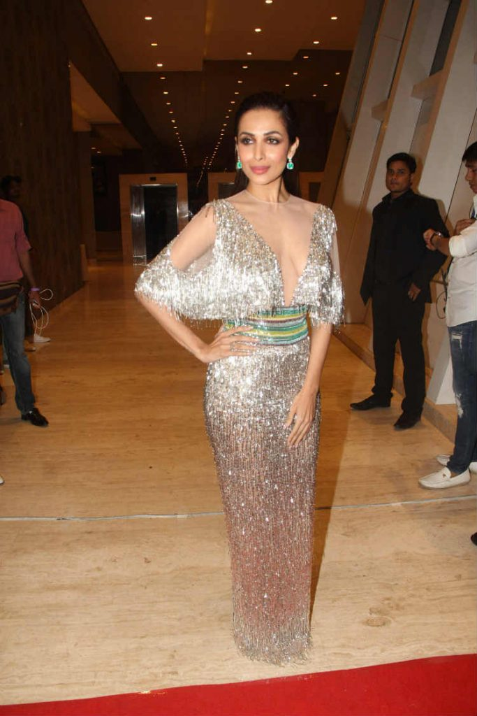 c80d9ef85ea9f Malaika Arora Khan Looked Like A Goddess in A Silver Fringe Gown By  LaBourjoisie