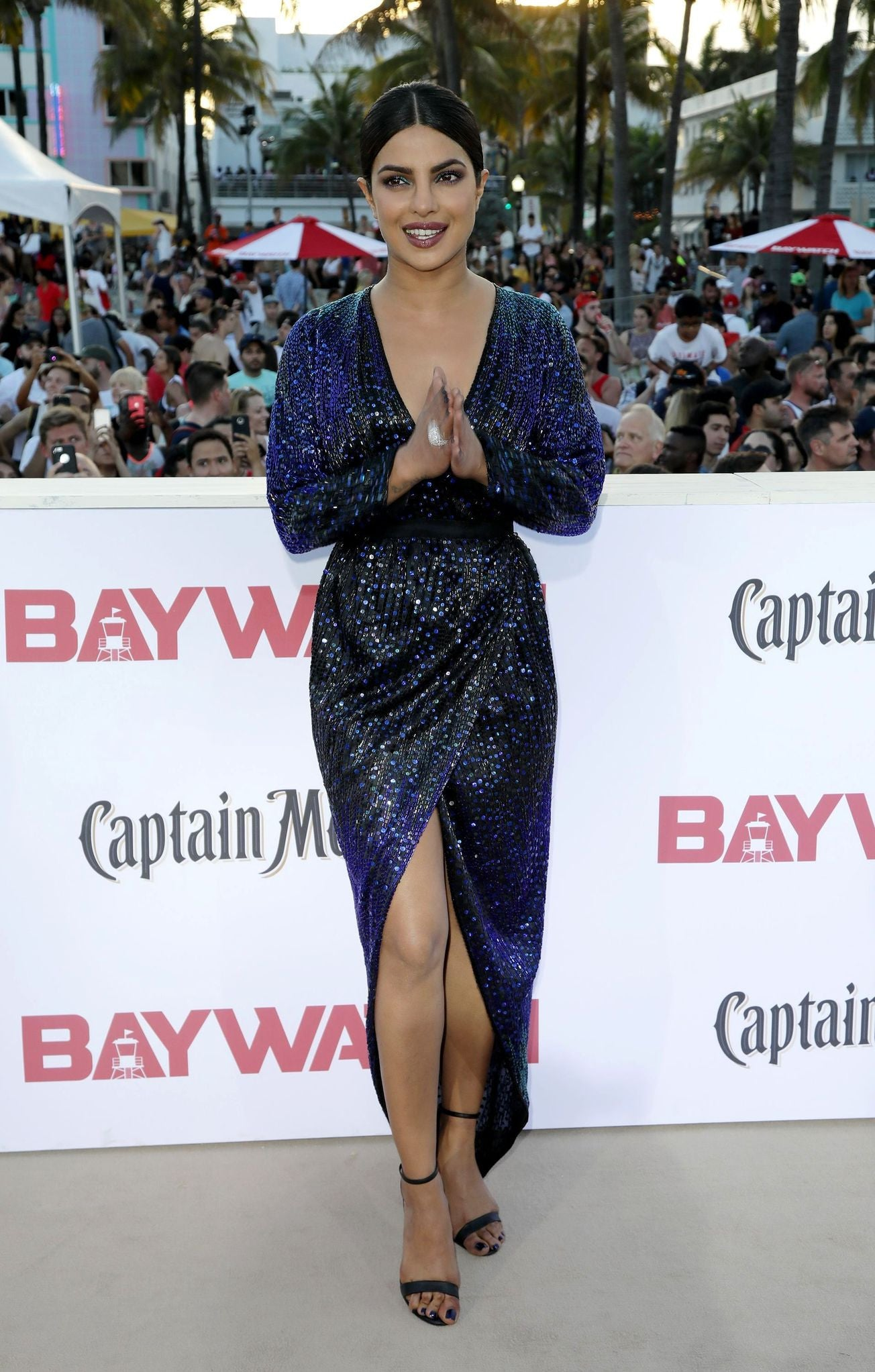 Priyanka Chopra Looked Gorgeous in vintage Halston wrap dress at Baywatch Movie Premiere
