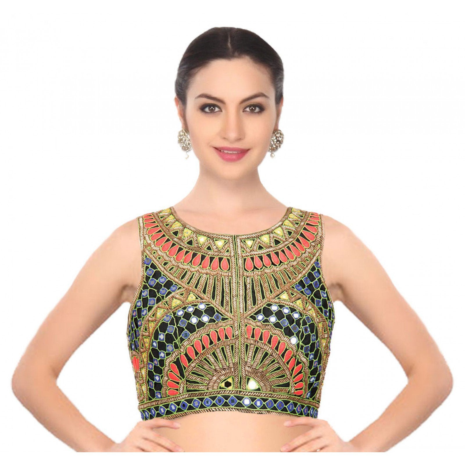 mirror-work-saree-blouse-online