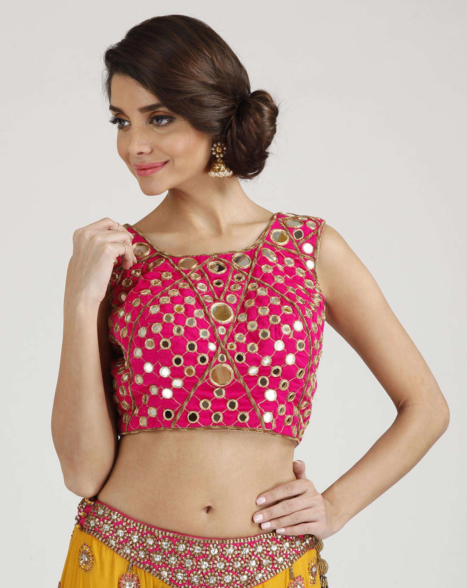 mirror-work-saree-blouses