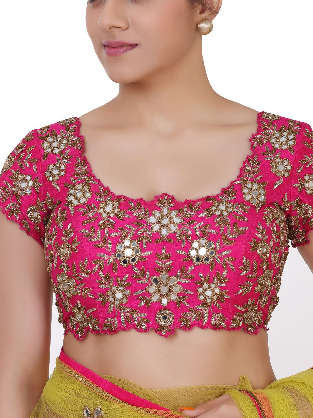 mirror-work-saree-blouse