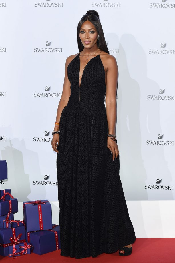 Naomi Campbell At the Swarovski Crystal Wonderland MFW Party