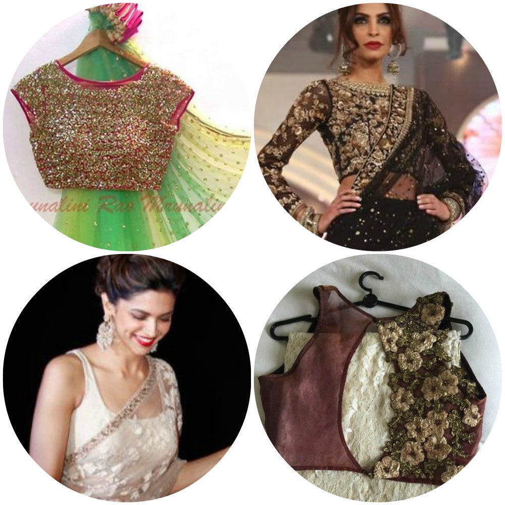 netted-saree-blouse-designs