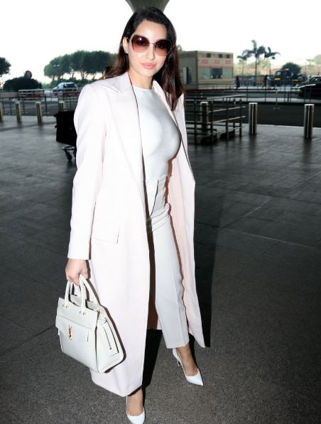 Nora Fatehi's Airport Look is Winter Wardrobe Goals