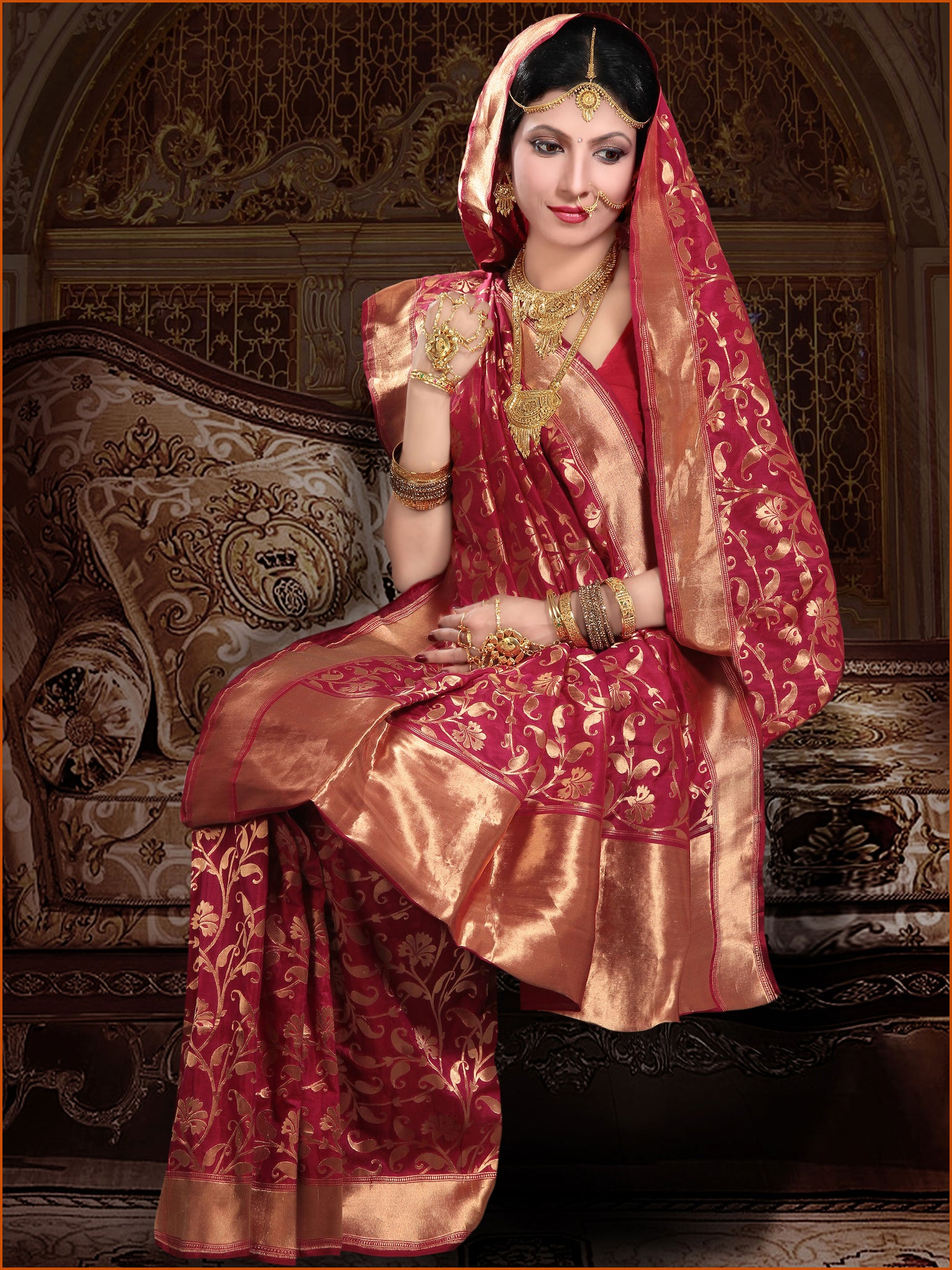 pink-silk-saree-with-golden-border