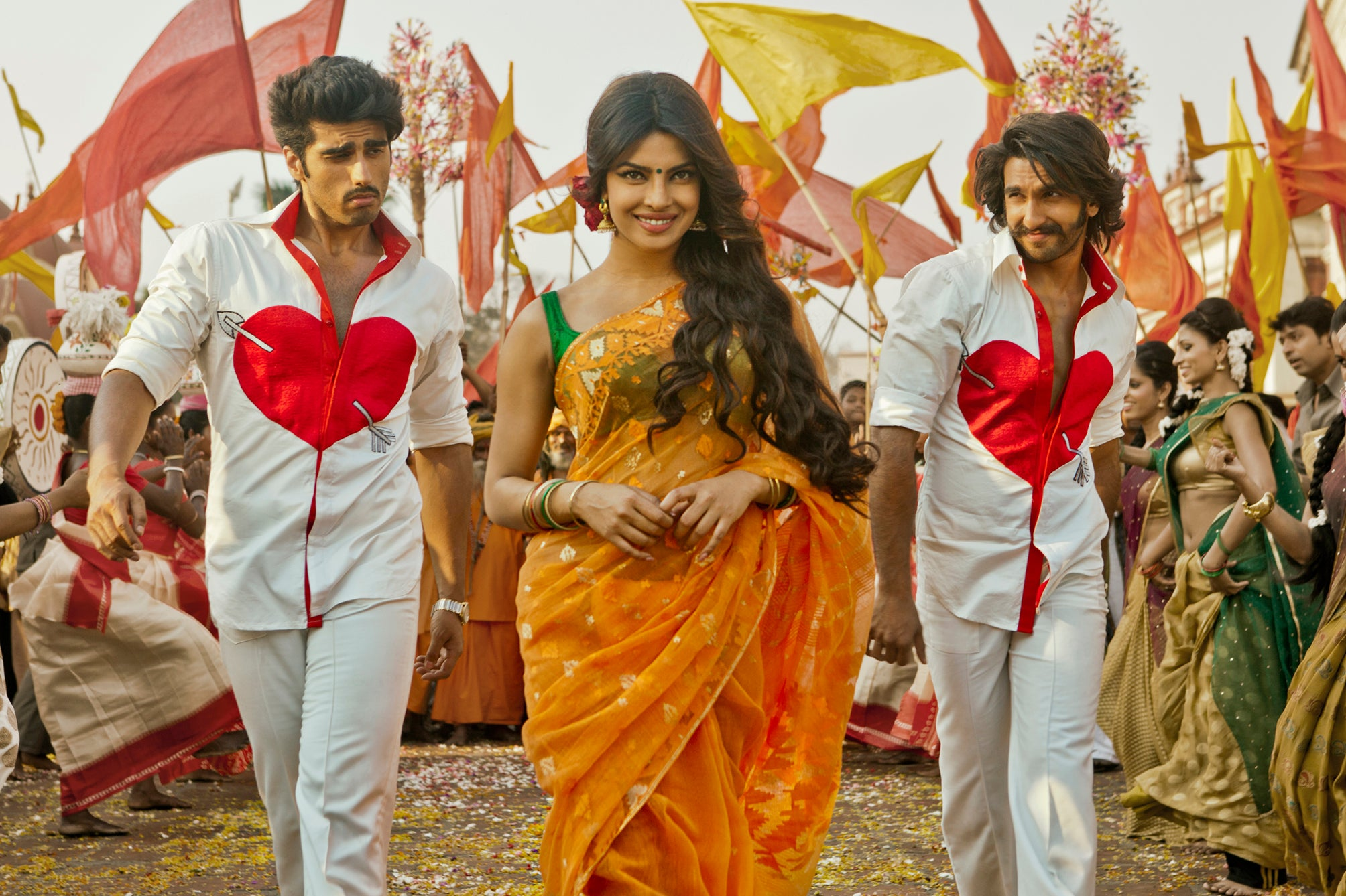 priyanka chopra gunday saree