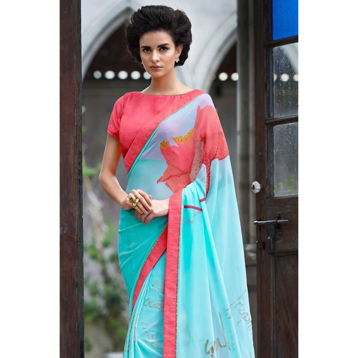 boat-neck-saree-blouse-online