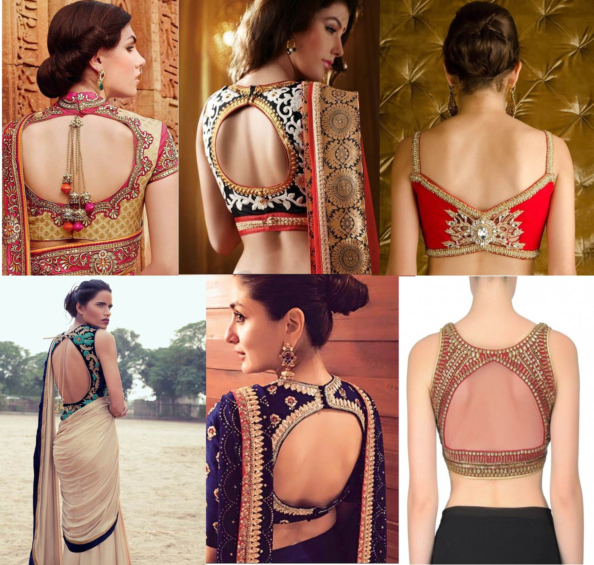 0d64fb8841dc4b Saree Blouse | Designer Blouse Back Neck Designs | Saree Blouse Back ...