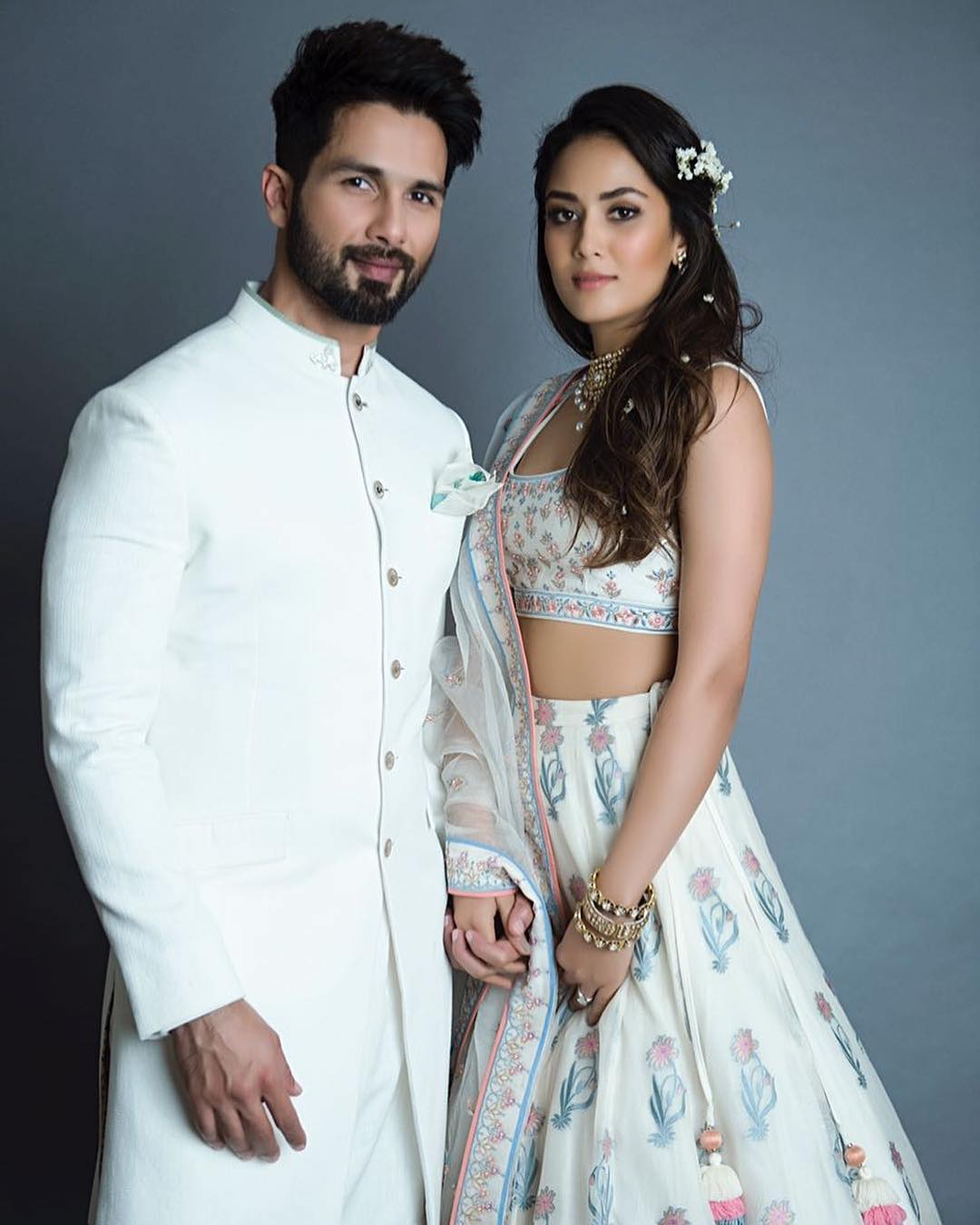 Shahid Kapoor and wife Mira Rajput made their debut as showstoppers for designer Anita Dongre at Lakme Fashion Week 2018.