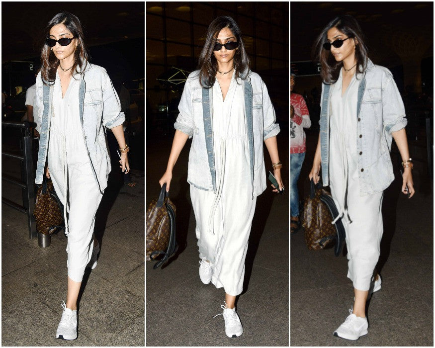 Bollywood Fashionista Sonam Kapoor Makes A Stylish Entry At Mumbai Airport