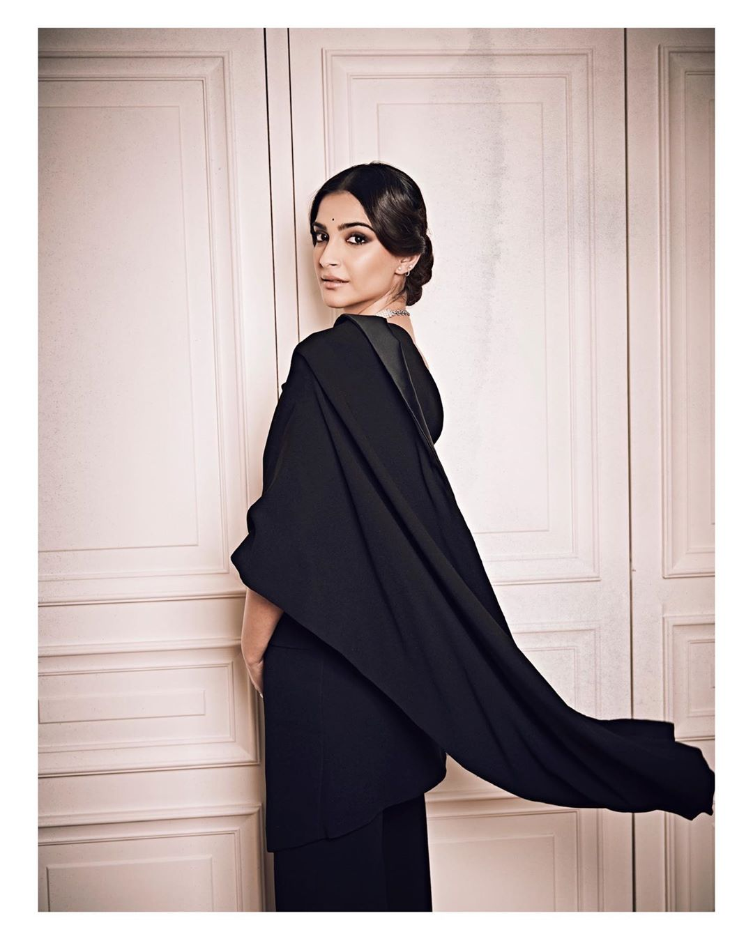 Sonam Kapoor wearing a Jean Paul Gaultier's Sari Tuxedo in Paris