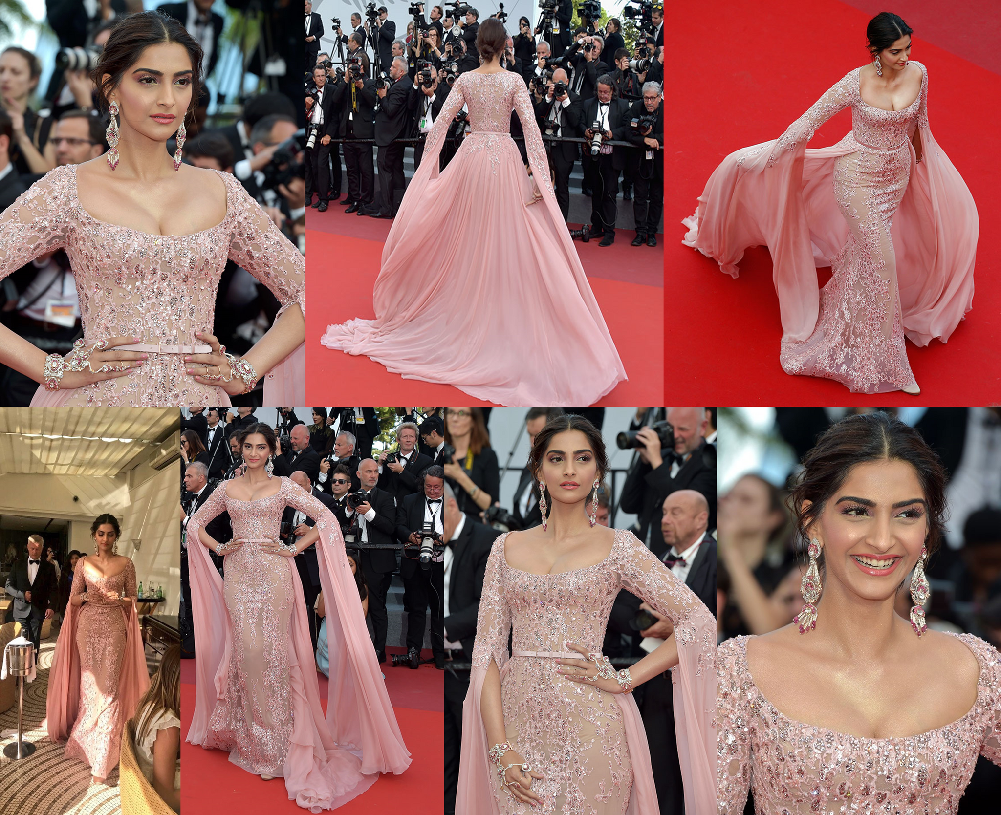 Sonam Kapoor Looked Gorgeous in Pink Gown