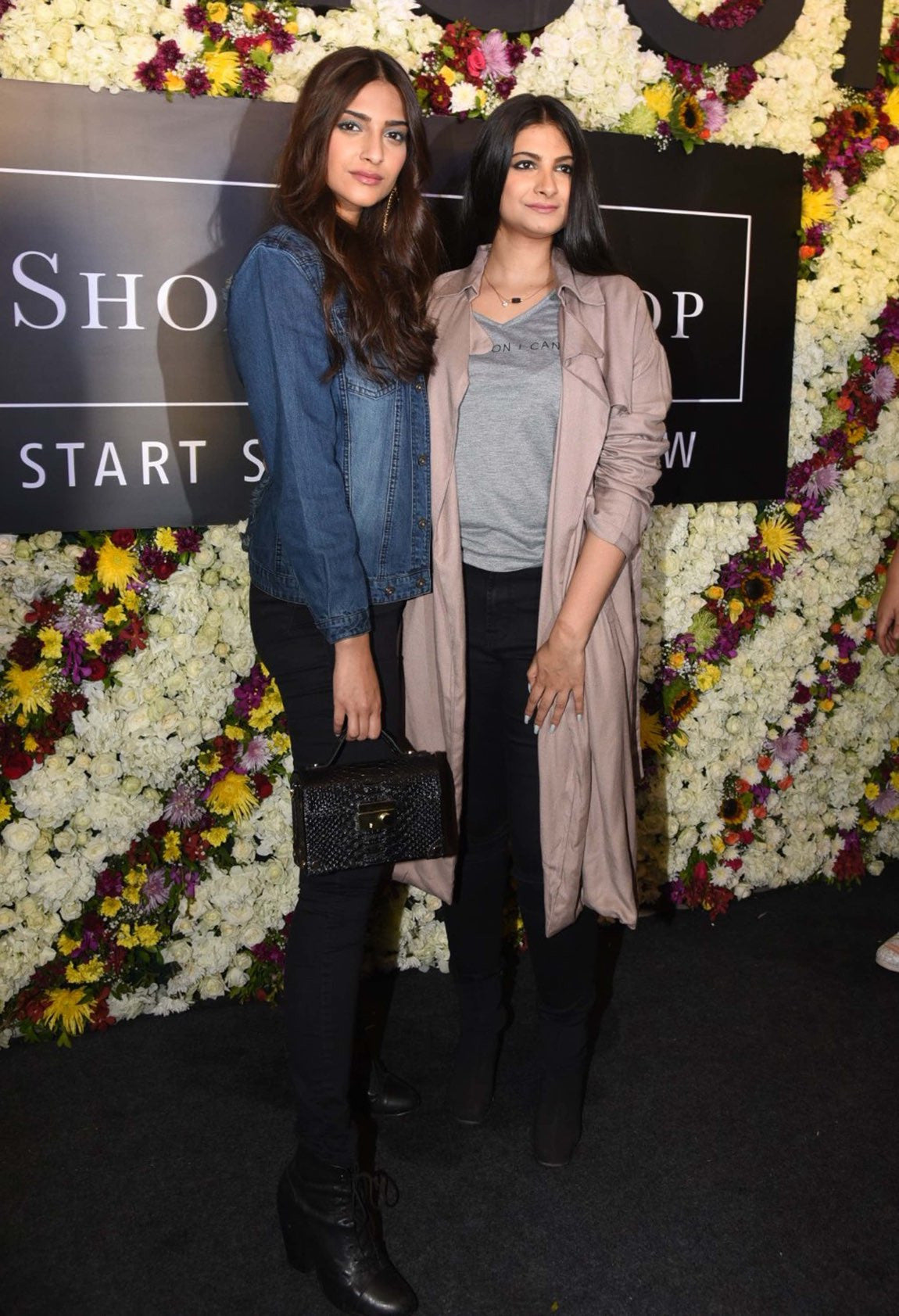 Sonam Kapoor & her Sister Rhea Kapoor at the launch of their fashion store