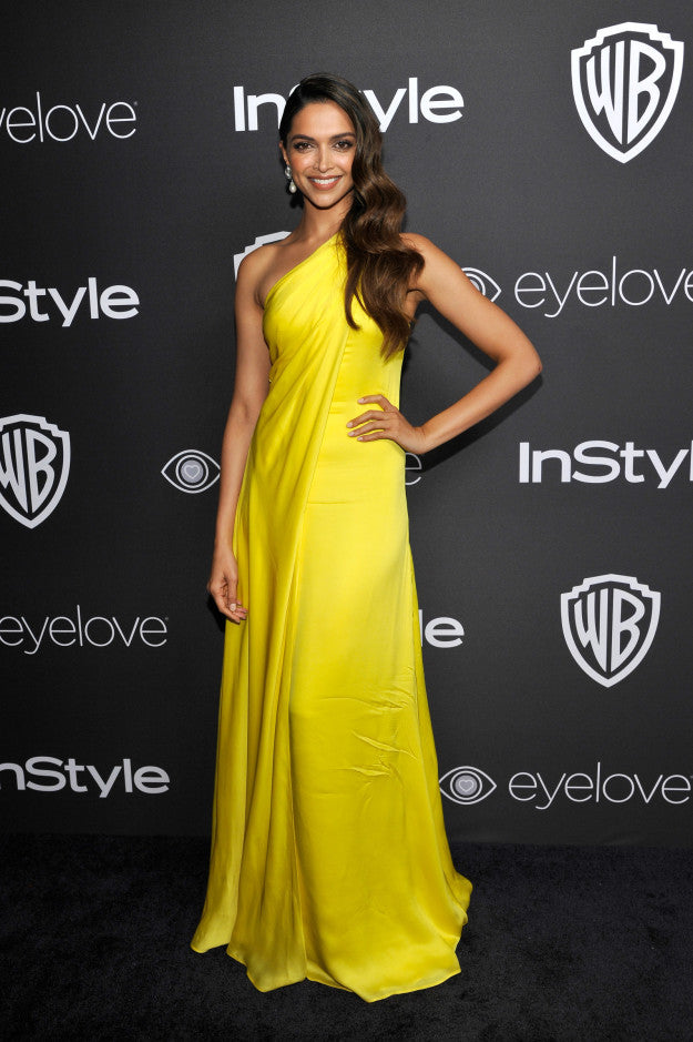 Image result for deepika yellow dress