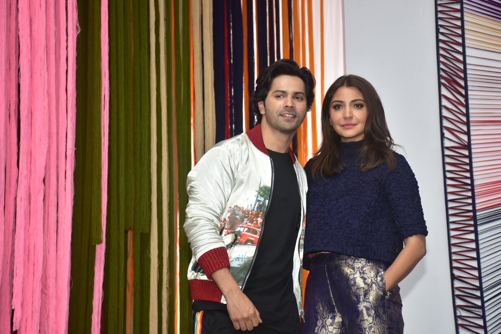 Anushka Sharma in Raw Mango's Dress at Sui Dhaaga Trailer Launch
