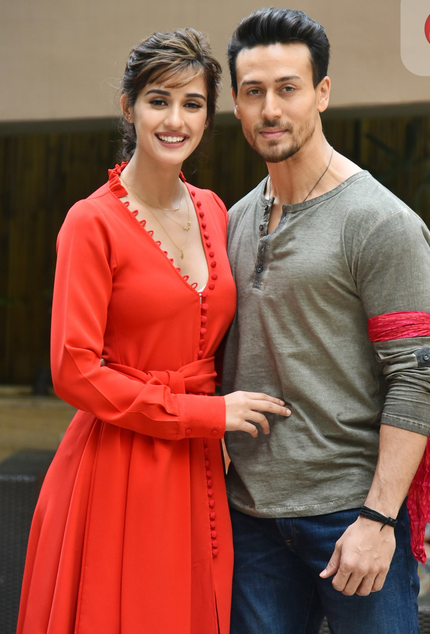 Tiger Shroff and Disha Patani at promotional event of 'Baaghi 2'