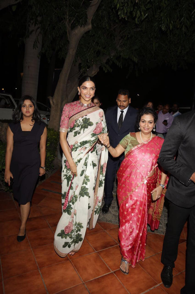 Deepika Padukone Looked Drop Dead Gorgeous in Sabyasachi Floral Saree From Udaipur Collection