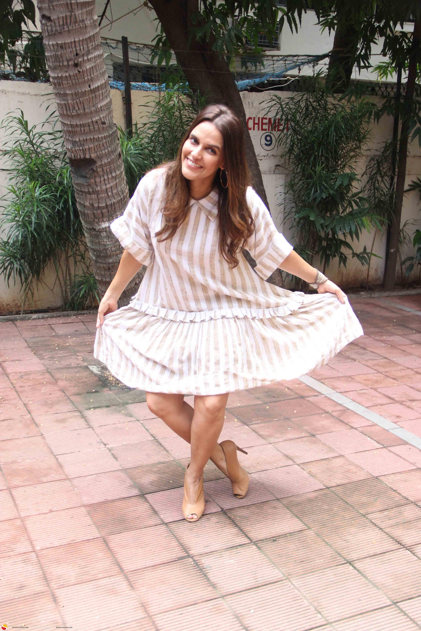 Neha Dhupia in Summery Outfit From Mint Blush