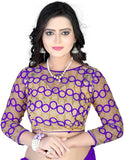 Trendy Chiffon Purple Saree For Women -Sari