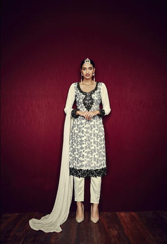 Urban-Naari-21796-Off-White-Colored-Faux-Georgette-Embroidered-Semi--Stitched-Salwar-Suit