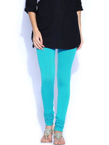 Leggings Churidar Skyblue Color Women's Churidar Leggings LS85