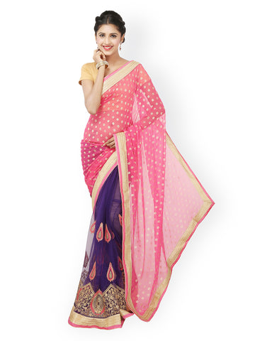 fs-7-latest-festival-sarees-jacquard-sarees-golden-lace-border-and-patch-embroidered-work-net-sarees