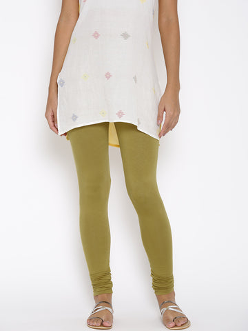 Olive Green Churidar Leggings Indian Churidar Leggings For Girl LS90