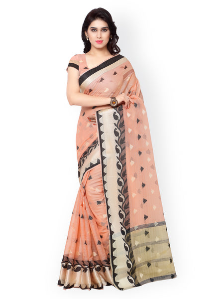 peach-colour-chanderi-silk-cotton-saree
