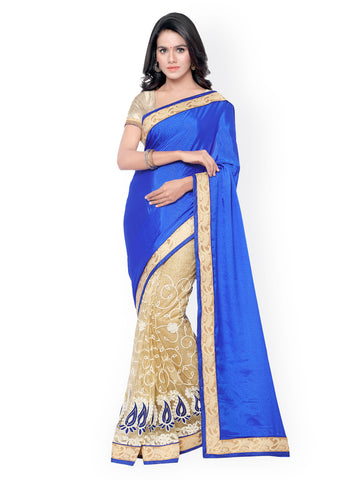 fs-9-blue-color-festival-sarees-patch-&-golden-lace-border-net-and-jacquard-sarees