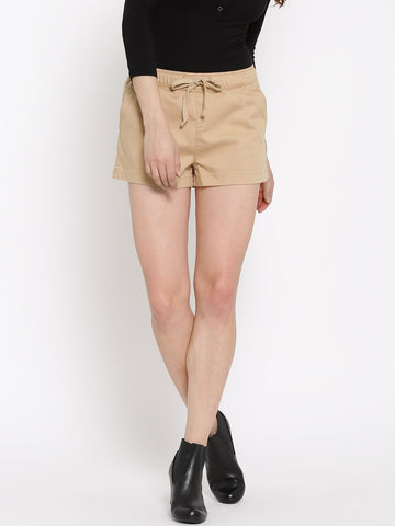 The-Latest-Designer-Women-Shorts-SFOREVER-21-Beige-Shorts-Women-Western-Wear