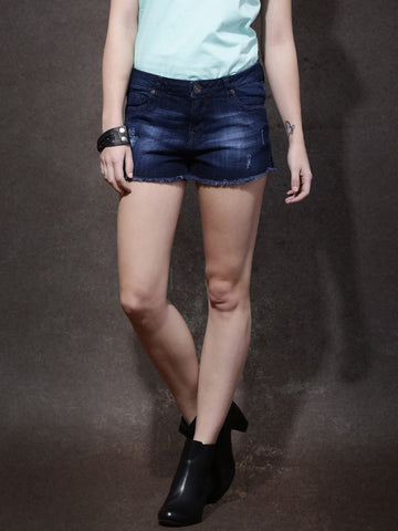 Women-Blue-Washed-Regular-Fit-Denim-Shorts-Women-Western-Wear