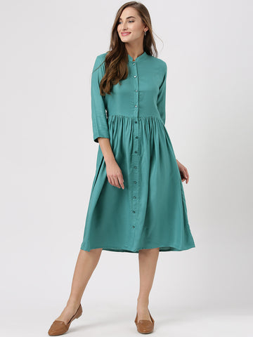 turqoussis-plain-long-midi-shirt-dress-online-designer-dressses-for-women