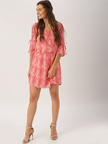 Latest Rompers Red & Pink Printed Romper