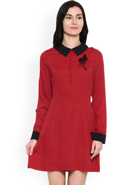 red-&-black-dress-online-designer-midi-dresses-for-women