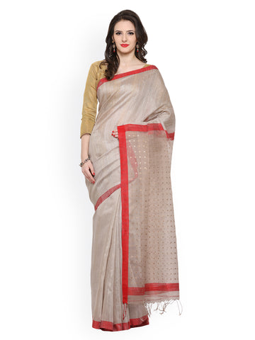 cream-colour-handwoven-silk-sarees-with-red-lace-border-&-designer-booti-work-on-pallu