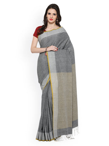 grey-color-handwoven-cotton-sarees-with-stripes-design-handwoven-sarees