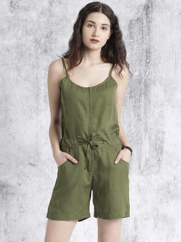 Stylish Rompers Olive Green Sleeveless Romper