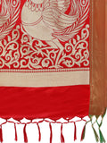 Kanjeevaram Silk Sarees Red Paithani Silk & Jacquard Traditional Saree