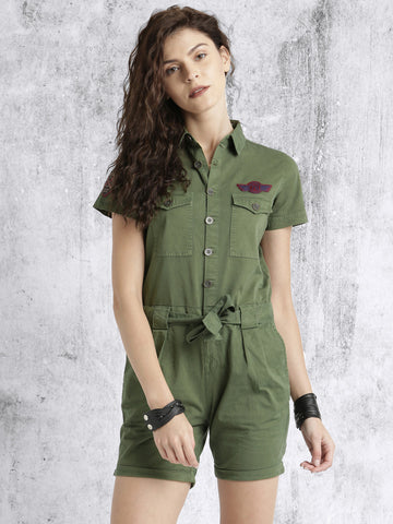 Latest Rompers Olive Green Rompers For Women