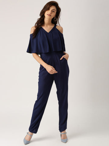 Bollywood's Trendy Navy Blue Jumpsuit For Women