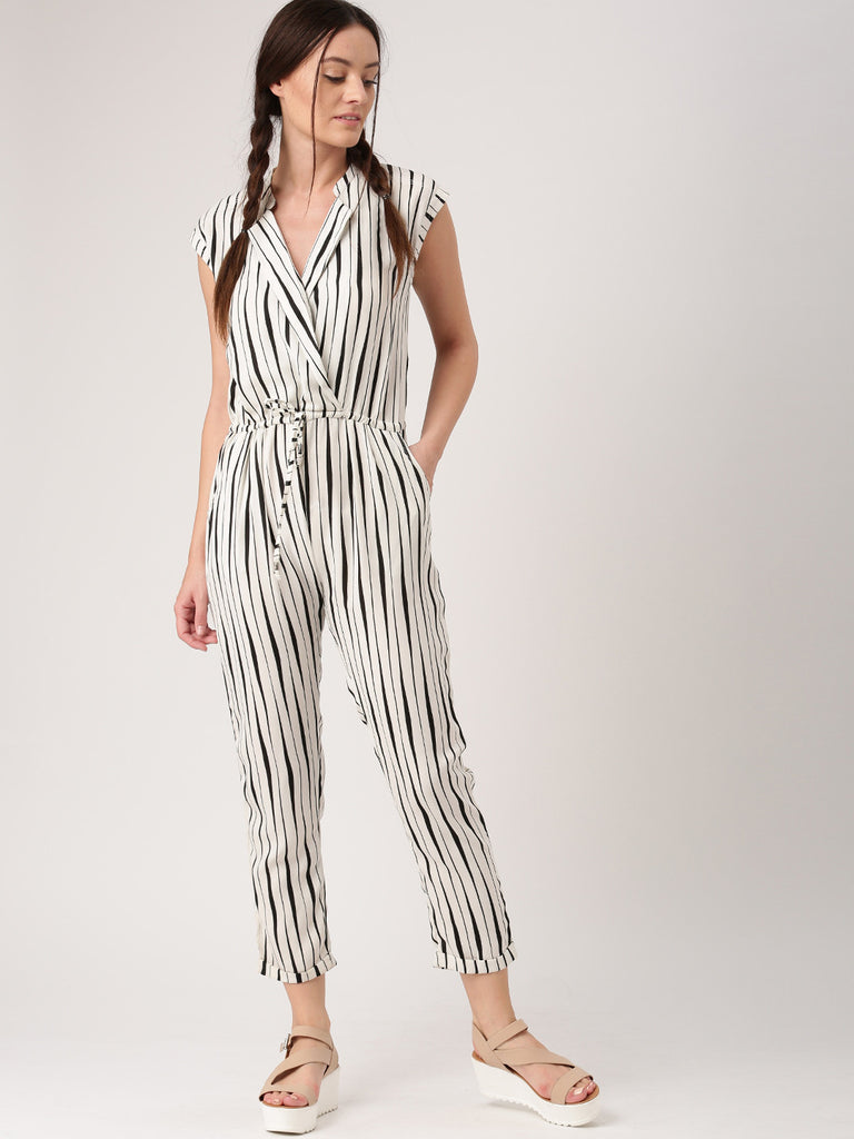 4069dea8978 Buy Now Trendy Off White   Black Striped Jumpsuit For Women – Lady India