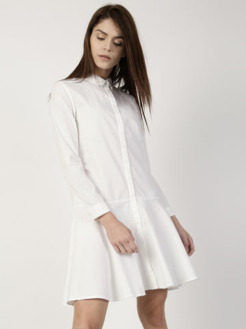 online-designer-white-plain-shirt-dress-full-sleeves-midi-dress