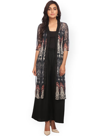 black-printed-shrugs-sheer-longline-shrug-designer-cape