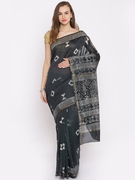 chanderi-silk-black-chanderi-printed-sarees