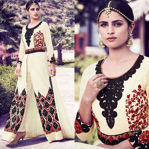 Urban-Naari-21965-Cream-Colored-Semi-Georgette-&-Net-Embroidered-Semi-Stitched-Salwar-Suit
