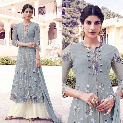 Urban-Naari-21968-Grey-Colored-Semi-Georgette-&-Net-Embroidered-Semi-Stitched-Salwar-Suit