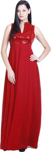 Evening Gowns Red Color Designer Gowns For Women