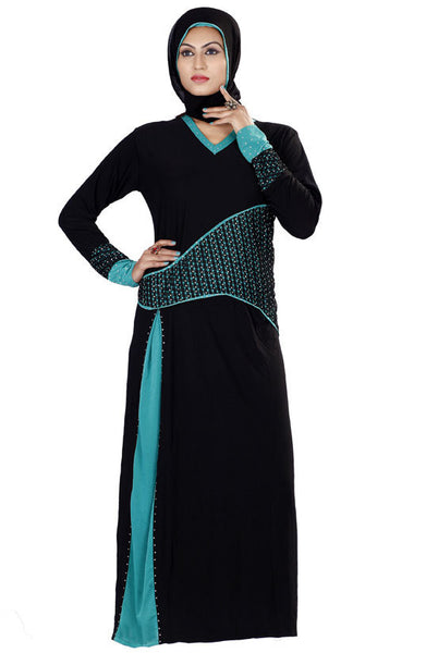 Beautiful Islamic Abaya Stitched Lycra Black Abaya