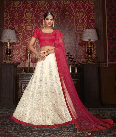 Urban-Naari-Off-White-Colored-Silk-Heavy-Embroidered-Semi-Stitched-Lehenga-Choli